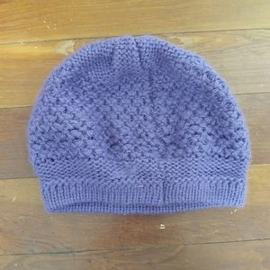 Purple knitted beret